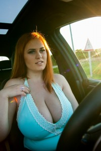 Alexsis faye drive x5 naked and playing with her huge tits 9